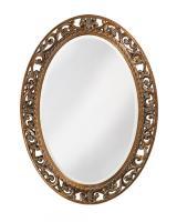Howard Elliott Suzanne Oval Mirror with Antique Bronze