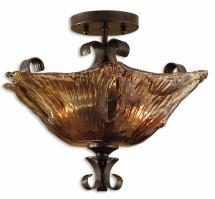 Uttermost 2 Light Semi Flush Mount Ceiling Light Fixture