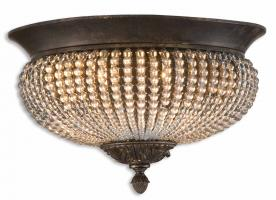 Uttermost 2 Light Flush Mount Ceiling Light Fixture