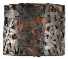 Uttermost 1 Light Wall Sconce in Aged Black