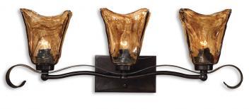 Uttermost 3 Light Vanity Strip Lighting Oil Rubbed Bronze