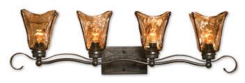 Uttermost 4 Light Vanity Strip Lighting Oil Rubbed Bronze
