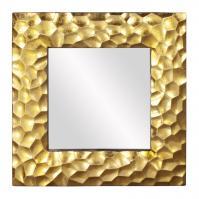 Marley Brilliant Gold Leaf Square Mirror