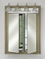 Afina Signature Collection Custom Framed Double Door Medicine Cabinet with Traditional Integral Lighting