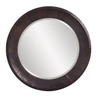 Montego Copper Metal Round Mirror