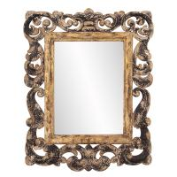 Isaac Rustic Wood Rectangular Mirror