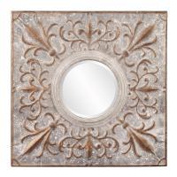Shelby Square Fleur Di Lis Mirror