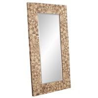 Abram Mosaic Wood Mirror