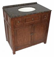 36 Inch Single Sink Bathroom Vanity in Walnut