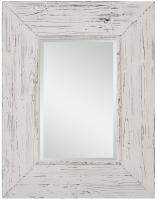 Wilkes Distressed White Rectangular Mirror