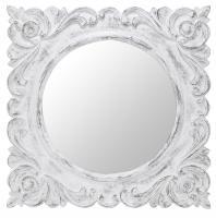Margate Aged White Square Mirror