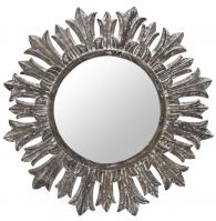 Marco White Wash Round Mirror