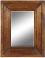 Canon Natural Rustic Wood Rectangular Mirror