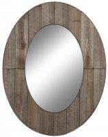 Mammoth Rustic Grey Oval Mirror