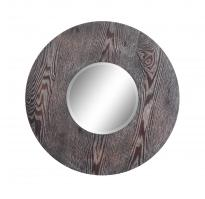 Hinkleys Dark Natural Wood Round Mirror
