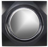 Spruce Black Square Mirror