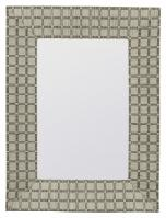 Beauclaire Woven Fabric Rectangular Mirror