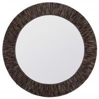Voltaire Natural Coconut Stick Round Mirror