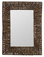 Manhattan Brown Recycled Snack Wrap Rectangular Mirror