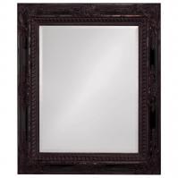 Howard Elliott Monaco Mottled Bronze Mirror with Black Inlay