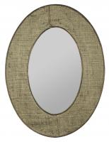 Brooklyn Natural Burlap Oval Mirror