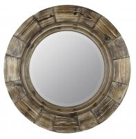 Bellini Natural Wood Round Mirror