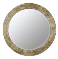 Cooper Classics Kettler Natural Wood Round Mirror