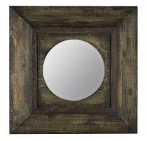 Davenport Distressed Brown Square Mirror