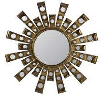 Constance Antique Gold Metal Unique Mirror