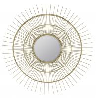 Marcade Muted Gold Metal Round Mirror