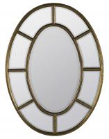 Elgin Antique Gold with Aged Red Undertones Oval Mirror
