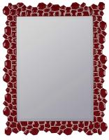 Cimarron Glossy Red Rectangular Mirror
