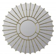 Kirwin Gold Metal Round Mirror