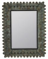 Chagall Aged Brown and Black with Sea Green Undertones Mirror