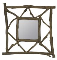 Westin Brown with Gray Undertones Square Mirror