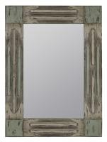 Desna Weathered Gray and Blue Rectangular Mirror