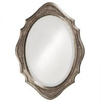 Howard Elliott Trafalga Mirror with Virginia Silver Leaf Finish