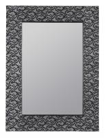 Hasburg Blue and Black Cloth Rectangular Mirror