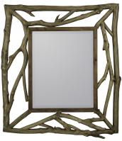 Annabelle Rustic Natural Wood Rectangular Mirror