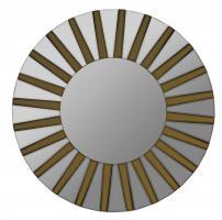 Emele Aged Gold Round Mirror