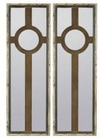 Kyles Rustic Metal and Gray Rectangular Mirror Set of 2