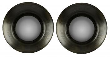 Sashis Gray with Black Undertones Round Mirror Set of 2