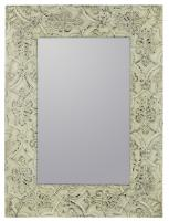 Lance Cream with Black Rectangular Mirror