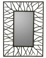Aysel Brown with Highlights Rectangular Mirror