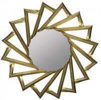 Navajo Gold Round Mirror