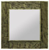 Malden Antique Gold with Black Square Mirror