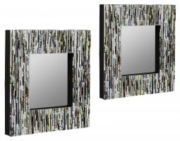 Sotos Recycled Magazine Square Mirrors Set Of 2