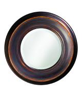 Dublin Round Burnished Copper Mirror