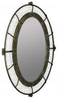Agda Rustic Bronze Oval Mirror