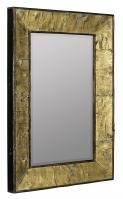 Zuma Natural Tree Bark with Gold Accents Rectangular Mirror